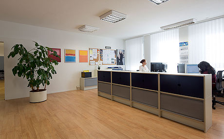 This pictures shows an office of Laboratoires Hauser Distribution of Parfums and Fragrances