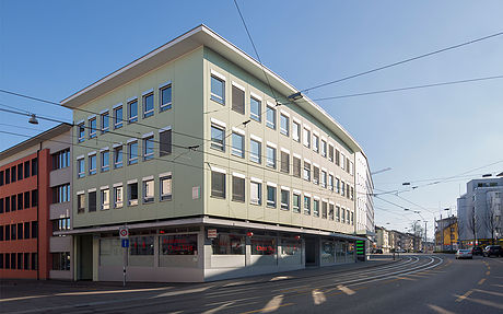 This pictures shows the office building of Laboratoires Hauser Distribution of Parfums and Fragrances
